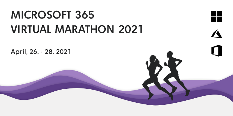 Microsoft 365 Virtual Marathon, April 26-28, 2021 logo