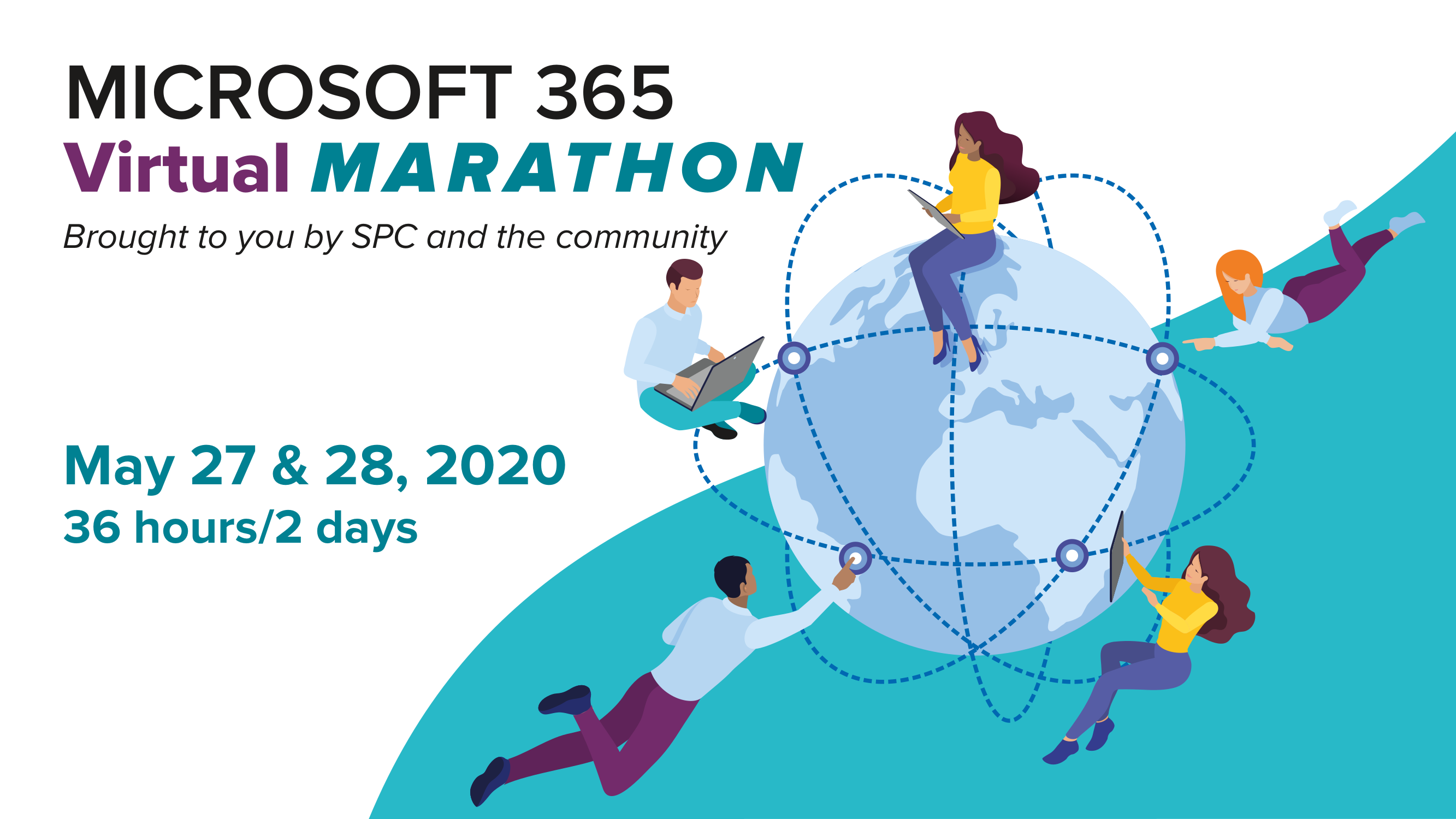 Microsoft 365 Virtual Marathon, May 27-28, 2020 logo